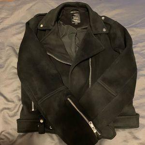 Zara Faux Suede Moto Jacket